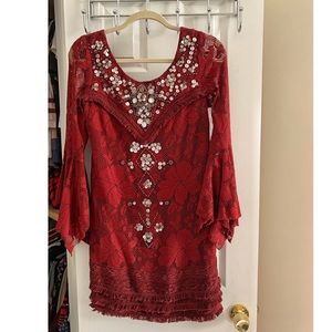 NWT Free People cranberry dress